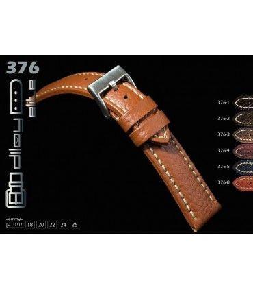 Correa de piel para reloj, Diloy 376