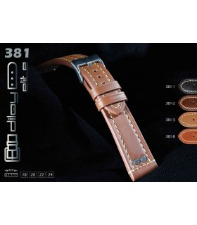 Leather watch strap, Diloy 381