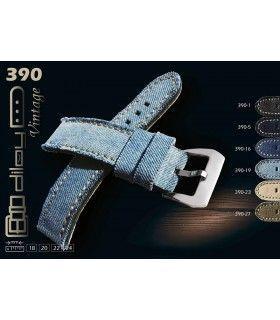 Bracelet en cuir de vache pour montre, Diloy 390