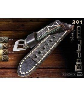 Bracelet en cuir de vache pour montre, Diloy 391