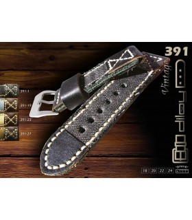 Leather and canvas watch straps, Diloy 391