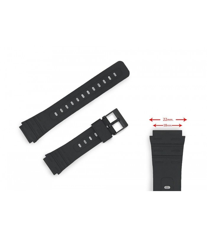 PU watch band for Casio watches, Diloy 284P1