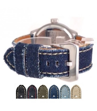 Leather and Denim watch straps Ref 390