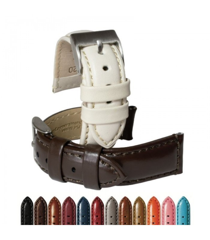 Leather watch strap, Diloy 363