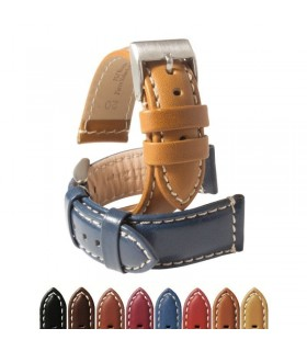 Leather watch strap diloy P354