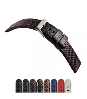 Leather watch strap, Diloy 382