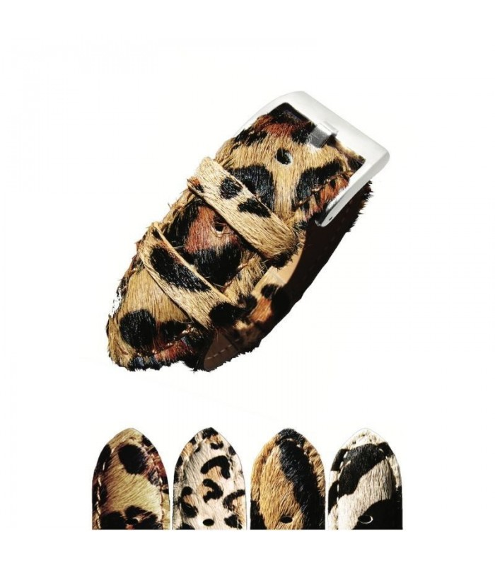 Correa de piel animal print para reloj, Diloy 388