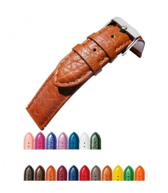 Bracelet extra long pour montre en cuir, Diloy P205EL