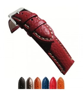 Leather watch strap diloy P206 extra lenght