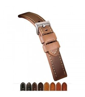 Leather watch strap, Diloy 384EL